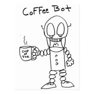 Bot del café tarjetas postales