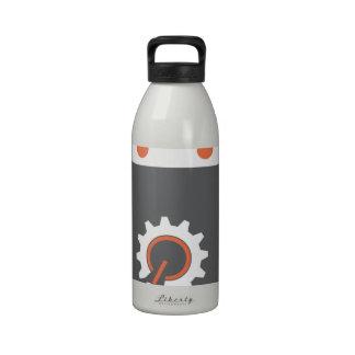 Bot gris botellas de beber