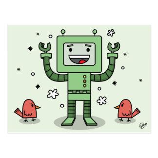 Bot y amigos felices - postal