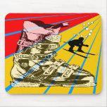 Bota de esquiar de Mousepad del deporte de inviern Alfombrilla De Raton