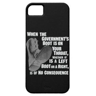 Bota de Jack del gobierno en su cuello iPhone 5 Fundas