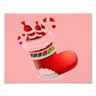 Bota de Santa con el caramelo Foto