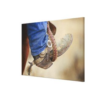 Bota de vaquero con el estímulo 2 impresión en lona estirada