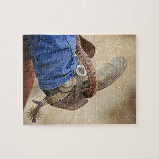 Bota de vaquero con el estímulo 2 rompecabezas