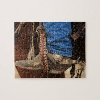 Bota de vaquero con el estímulo puzzles con fotos