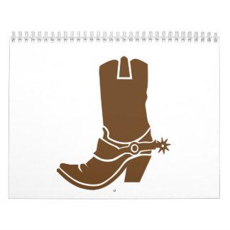 Bota de vaquero calendario de pared