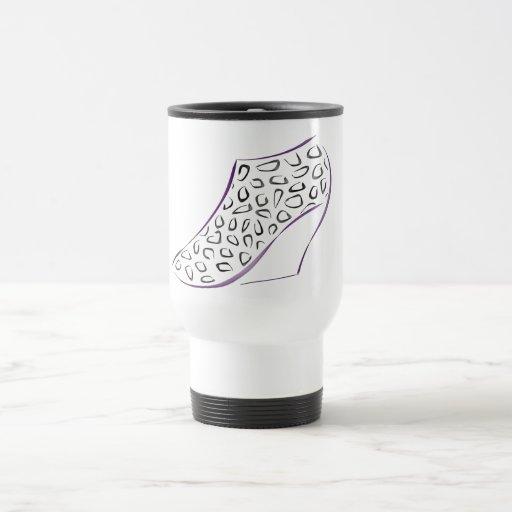 Bota del leopardo taza de café