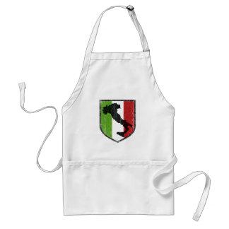 Bota italiana del escudo de la bandera medieval delantal