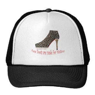 Bota negra gorra