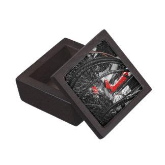 Bota roja en pila del comino del penique caja de regalo de calidad