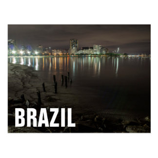 Botafogo Bay Night Postcard