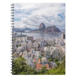Botafogo With Sugar Loaf Spiral Notebook