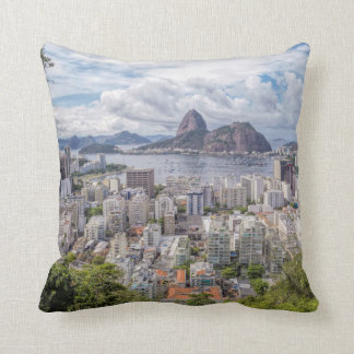 Botafogo With Sugar Loaf Throw Pillow