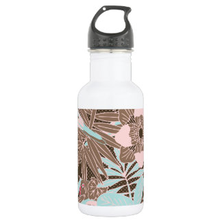 Botanic & Birds - Chocolate Stainless Steel Water Bottle