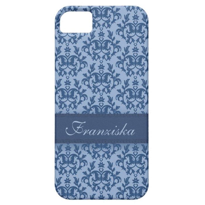 Botanic damask blue iphone5 case