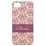 Botanic damask pink plum lemon iphone5 name case iPhone 5 covers