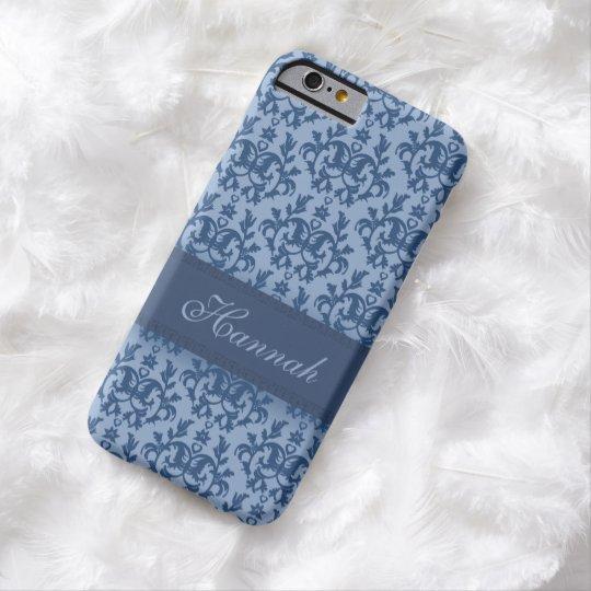 Botanic damask powder blue iphone name case