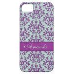 Botanic damask purple emerald iphone 5 case