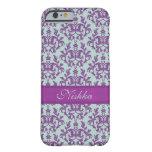 Botanic damask purple emerald iphone barely there iPhone 6 case