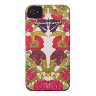 Botanic Fix - Floral Butterfly Print Case-Mate iPhone 4 Case