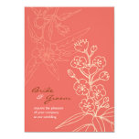 Botanica (Coral) Wedding 5x7 Paper Invitation Card
