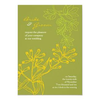 Botanica (Fern Green) Wedding 5x7 Paper Invitation Card
