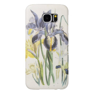 Botánica floral del vintage, flores del iris del fundas samsung galaxy s6