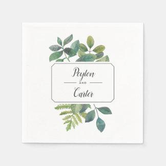 Botanica Personalized Wedding Napkin