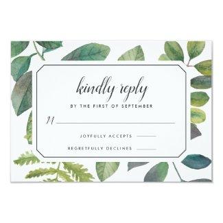 Botanical RSVP Cards