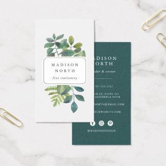 Botanica   Vertical Social Media Business Card