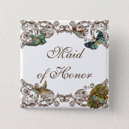 Botanica Wedding Ensemble - Maid of Honor Pin