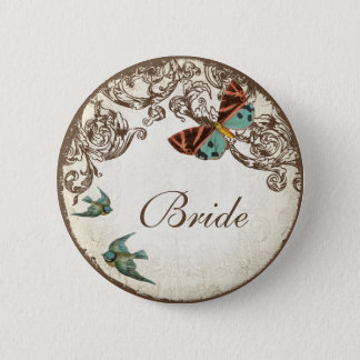 Botanica Wedding Ensemble Pinback Button