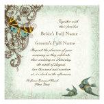 Botanica Wedding Invitation - Blue Green