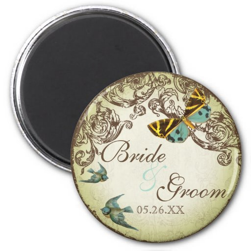 Botanica Wedding Save the Date Magnet - Green