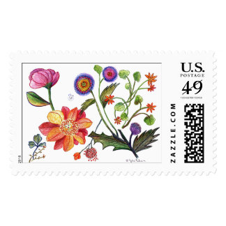 botanical45 postage stamps