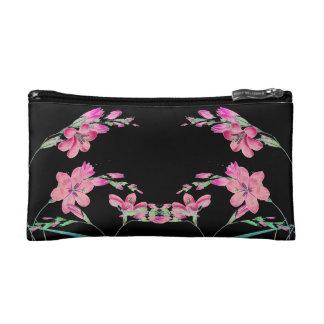 Botanical African Lily Flowers Floral Vintage Bag Makeup Bags