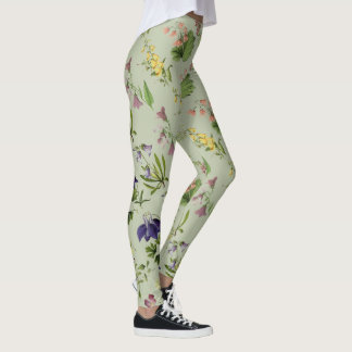 Botanical Alpine Floral All Over Print Legging