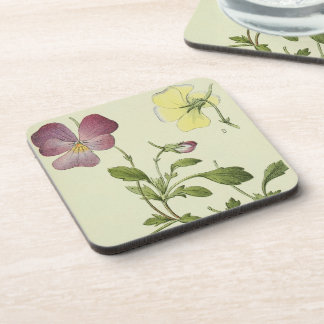 Botanical Alpine Flowers Floral Coaster