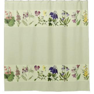 Botanical Alpine Flowers Floral Shower Curtain