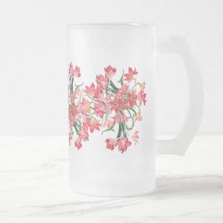 Botanical Amarylis Flowers Floral Garden Mug
