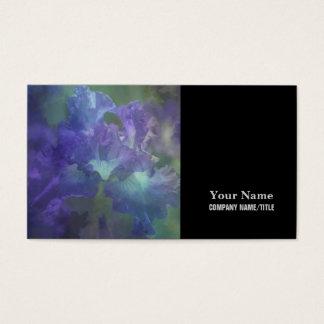 Botanical art impressionism flower purple iris business card