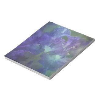 Botanical art impressionism flower purple iris notepad