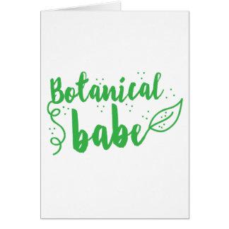 botanical babe (lady gardener) card