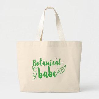botanical babe (lady gardener) large tote bag