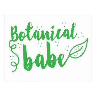 botanical babe (lady gardener) postcard