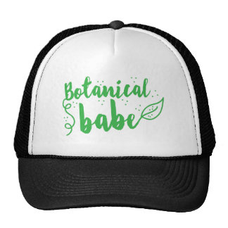 botanical babe (lady gardener) trucker hat