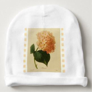 Botanical--Babies-Vintage-Floral-Art_Cream Checks Baby Beanie