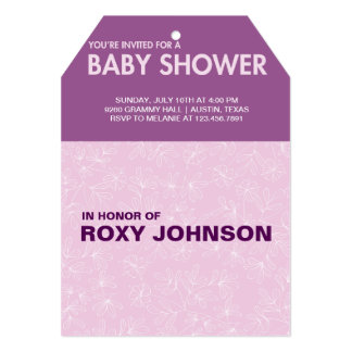 botanical baby shower card