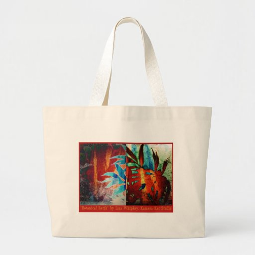 Botanical Batik Tote Bags