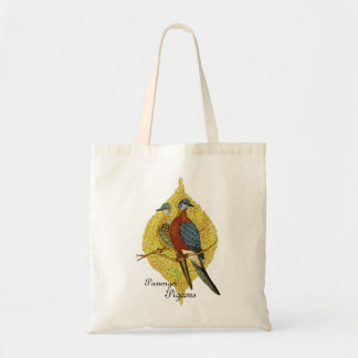 Botanical Birds Tote Bag